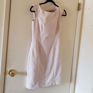 Nwot H & M cream fitted sleeveless dress size 6
